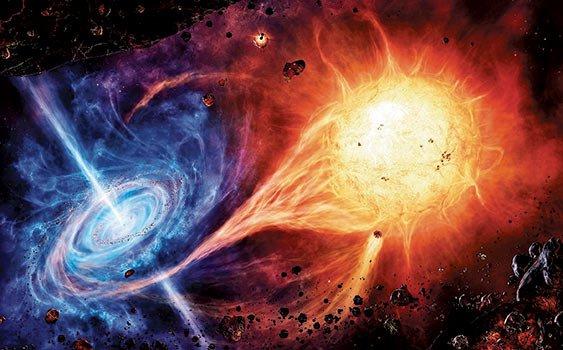 Buco nero divora una stella, osservati per la prima volta
