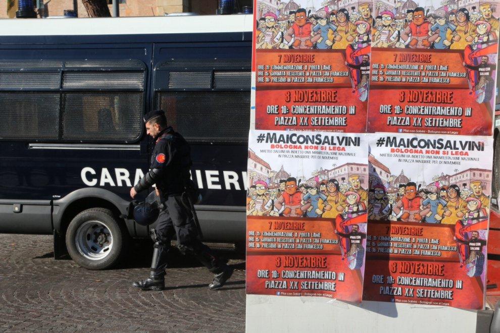 Bologna contro l'arrivo di Matteo Salvini