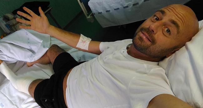 Luca Abete operato al ginocchio dopo l'aggressione a Napoli