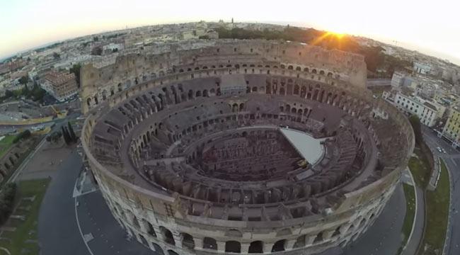 Roma, fermato turco che riprendeva il Colosseo con un drone