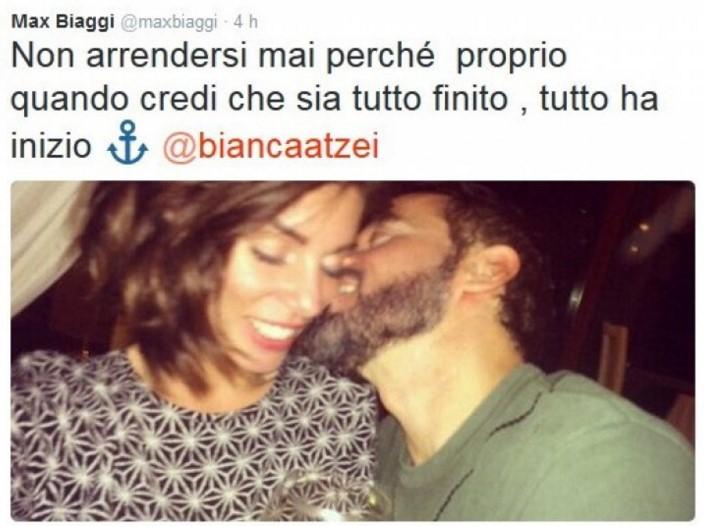Bianca Atzei incinta di Max Biaggi?