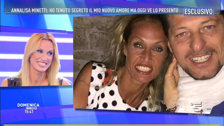 Domenica Live, Annalisa Minetti presenta il suo fidanzato Michele