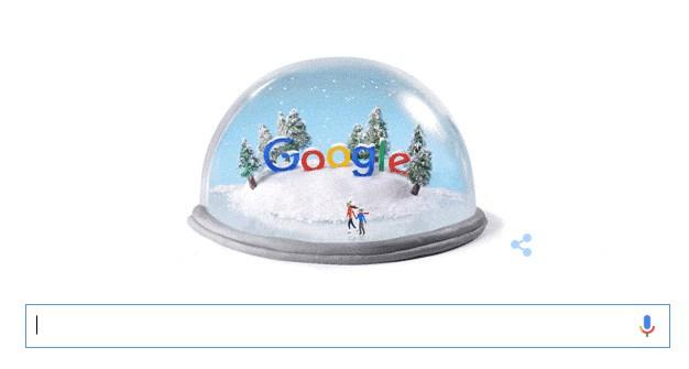 Doodle di Google, solstizio inverno 22 dicembre 2015