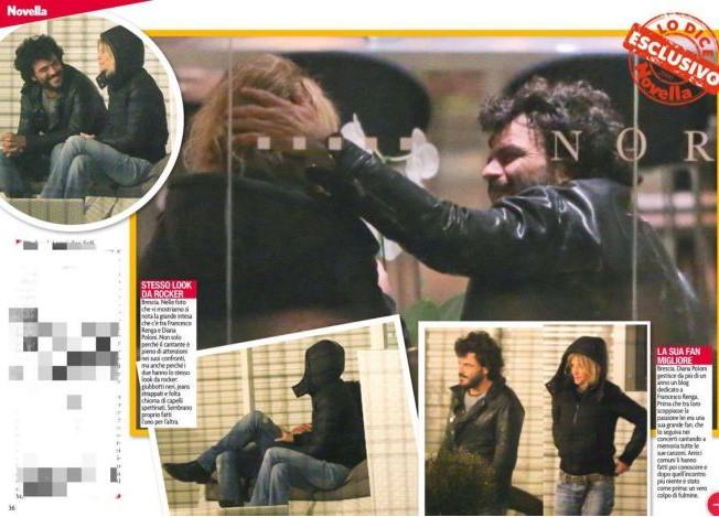 Francesco Renga va a convivere con Diana?