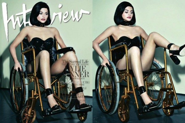 Kylie Jenner sulla sedia a rotelle