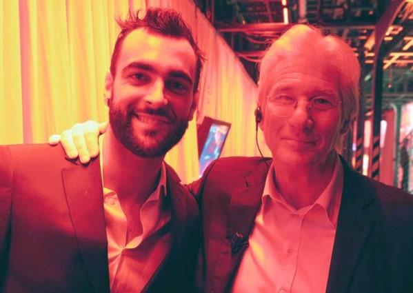 Richard Gere e Marco Mengoni