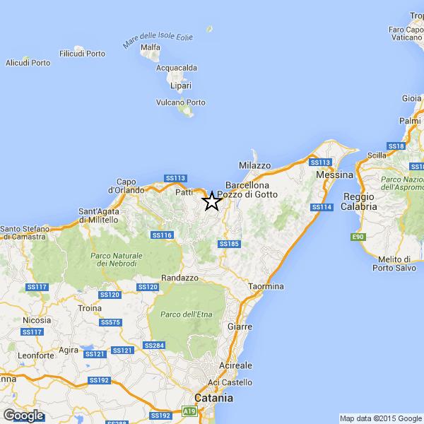 Terremoto oggi, Sicilia Messina 01 dicembre 2015, in tempo reale