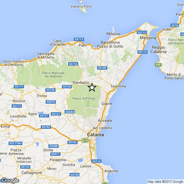 Terremoto oggi, tempo reale Catania 8 dicembre