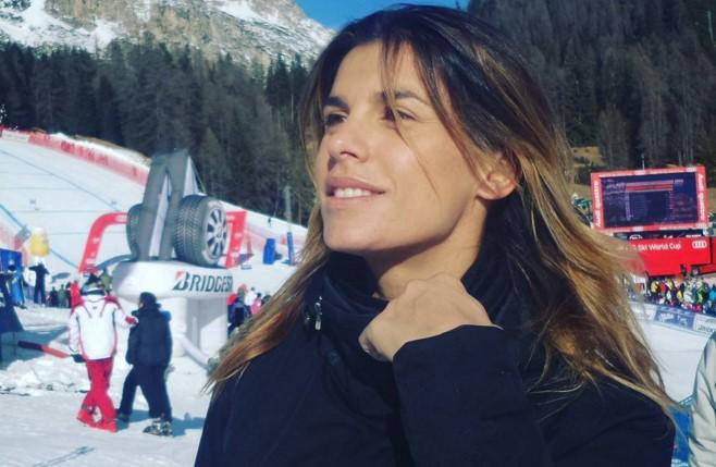 Elisabetta Canalis in vacanza a Cortina con la famiglia