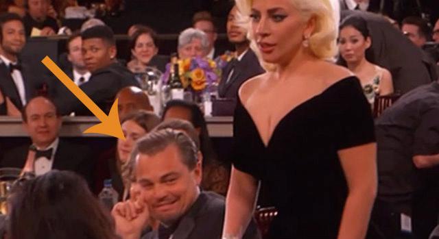 Leonardo Di Caprio e Lady Gaga al Golden Globe 2016