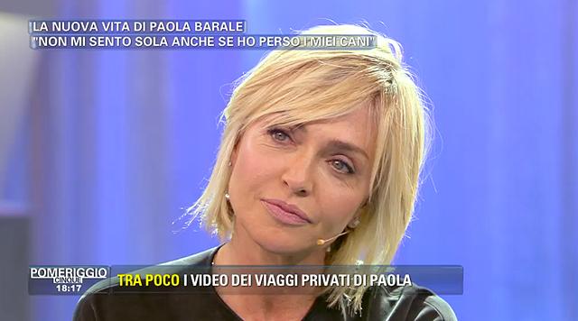 Paola Barale ospite a Pomeriggio 5 intervistata da Barbara D'Urso