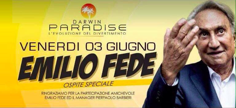 Emilio Fede, ospitate in discoteca