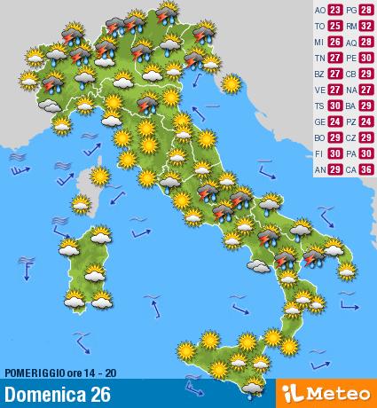 a16cc867ba Previsioni Meteo Italia: sbalzi di temperatura continuano
