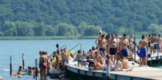 Caduto nel lago d'Iseo, Ponteile lido Nettuno