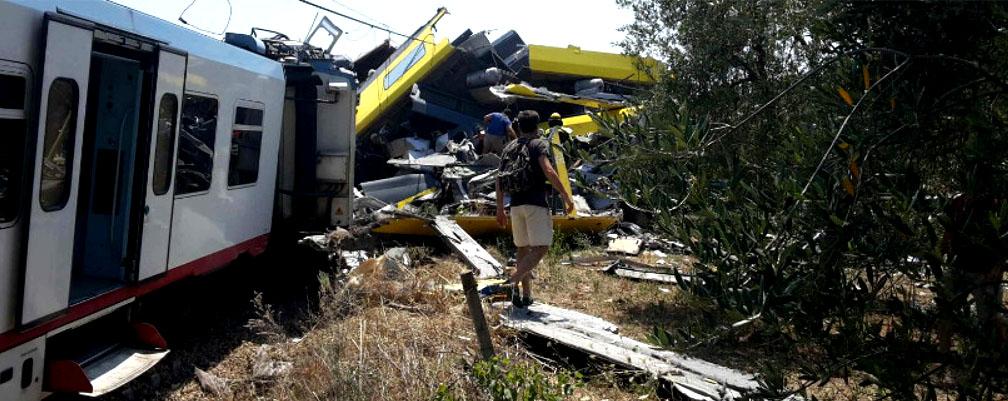 Incidente ferroviario a Bari, 27 vittime