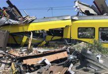 Incidente a Bari scontro tra due treni