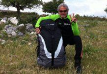 Adriano Pappalardo, incidente col parapendio