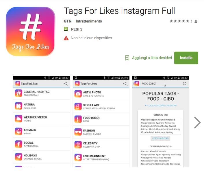 Tags For Likes Instagram Gratis