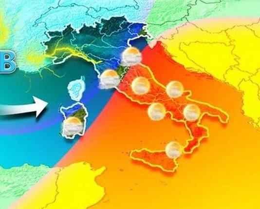 Previsioni meteo: l'Italia divisa in due parti