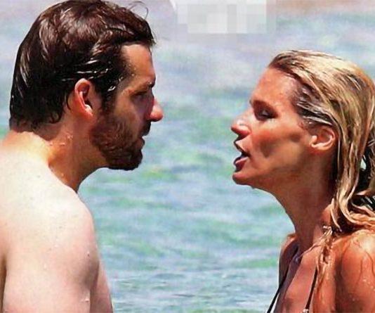 Michelle Hunziker e Tomaso Trussardi: facce indispettite in vacanza